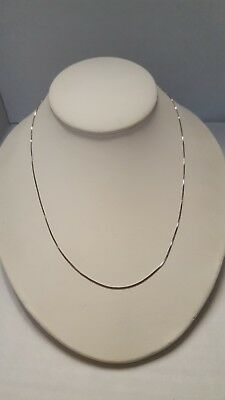 """Beautiful Thailand/USA Sterling Silver Rolo Thin Chain Necklace-18"""""""