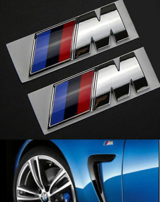 2x M BWM Emblème Auto Logo autocollants voiture Badge for BMW M Emblem M1 M3 M5