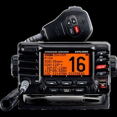 Standard Horizon VHF, Explorer GPS, Opt. Remote, Black