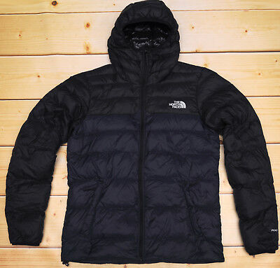 5633fbe43e THE NORTH FACE WEST PEAK 700 DOWN insulated MEN'S NAVY PUFFER HOODIE JACKET  - M