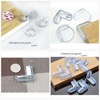 BeRicham 20 Pack Baby Safety Clear Furniture Corner Guards Corner Protector w...