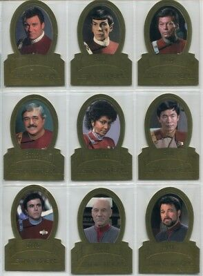 Star Trek Classic Movies Heroes and Villains die cut gold card H4 Scotty