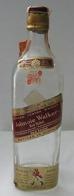 Johnnie Walker Red Label Empty Whisky Bottle w/Florida Tax Stamp, 4/5 Qt w/Cork