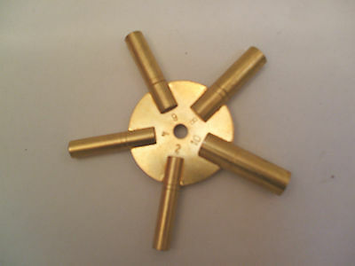 """Master Clock Winding Key Size 2,4,6,8,10  and 3.5""""Long in VG"""