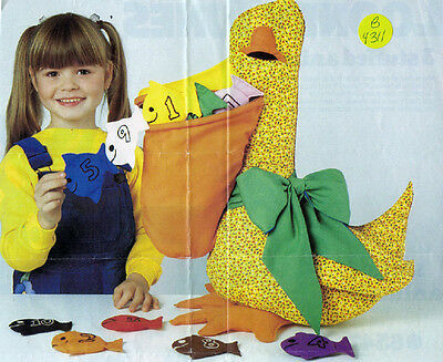 Crafts - Doll - Pelican Teaching Toy - Butterick Pattern 4431