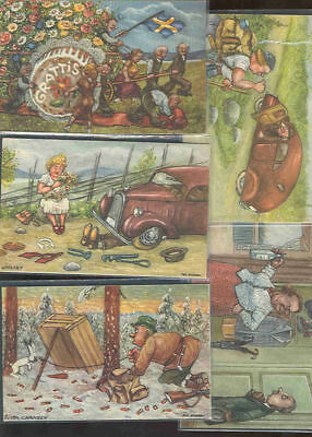 pc9321 postcard Sweden TIVE Comic all MOBSC