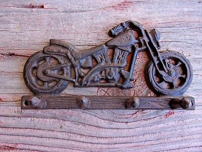 Cast Iron Motorcycle Key Hat Coat Hook Home Decor   #905