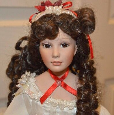 "Paradise Galleries Ashley Belle porcelain Doll by Donna Rubert 20"" southern bell"