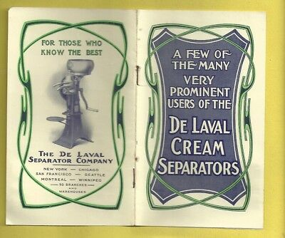 Vintage Advertising Pamphlet DE LAVAL CREAM SEPARATORS