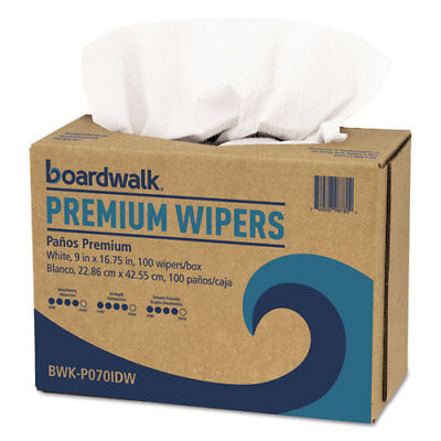 """BOARDWALK Premium Wipers, 9""""x16.75"""", Color: White, 1000 Wipers/Case,*Free S/H."""