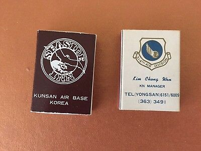 Two Boxes Of Matches, Kunsan Ab, Korea & Seoul House, Yongsan, Korea. Unstruck.