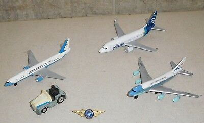 Alaska Airlines Toy Airplane Realtoy Jet Tomica Toyota Tow Air Force One Pin