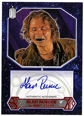Doctor Who Alan Ruscoe As Andy Stone. Red Parallel Autograph Card 06/10. Topps