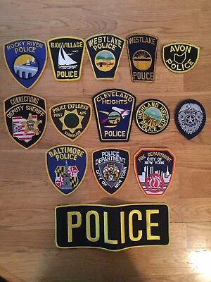 Lot of 14 Collectible Ohio New York Police Sheriff Patches Cleveland Westlake