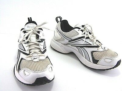 d3425e28 REEBOK DMX RIDE Running Shoes Mens White Blue Low Lace Up Size 7.5
