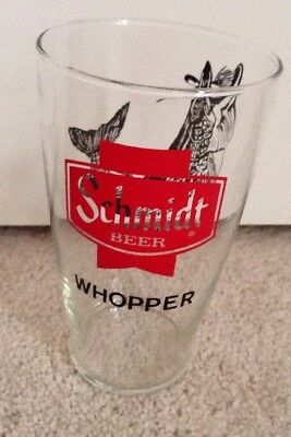 Vintage Schmidt Beer Whopper Glass-7 Inches Tall