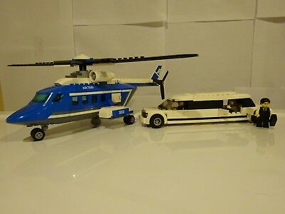 Lego City Helicopter And Limousine 3222 Retired Complete 7500