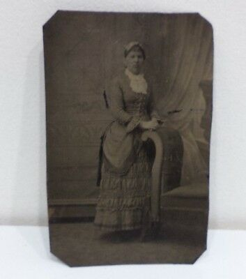 Civil War Era Tintype Early Family Portrait Photo Older Woman Wife Wealthy  Rare