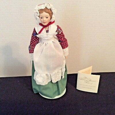 """Vintage 1987 Avon Early American 8.5"""" Collectible Porcelain Doll"""