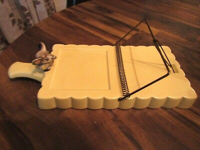 "Vintage Rare Ceramic Mouse and Mousetrap Cheese Tray Serving Dish MCM 12"" Long"