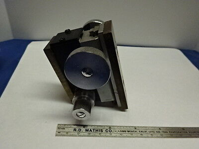 Vintage Brass Stage Micrometer Germany Unknown Make Microscope Part As Is &83-62