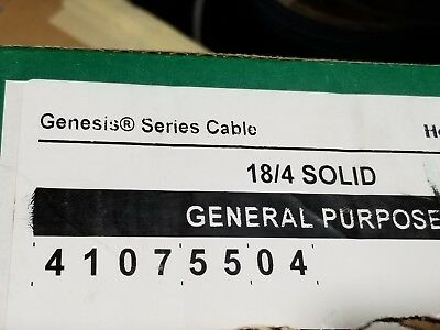 Honeywell Genesis Cable 4107 18/4C Solid UnShielded FPL Alarm/Comm Wire /100ft