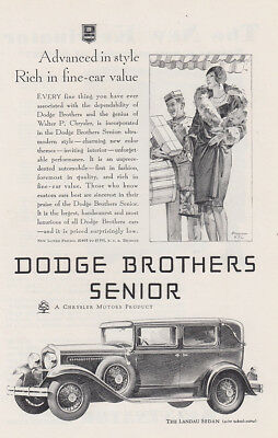 1929 Dodge Brothers Senior: Advanced in Style Vintage Print Ad