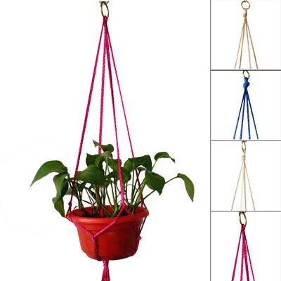 Macrame Plant Hanger Holder Stainless Steel Hanging Ring Vintage High Quality