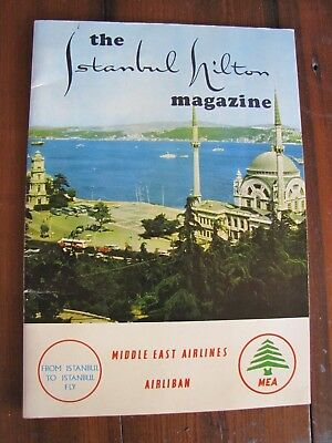 Vintage 1968 The Istanbul Hilton Magazine Middle East Airlines Other Advertising