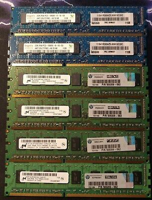 12 GB DDR3 1333MHz 10600E HP z800 workstation memory