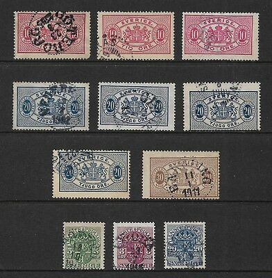 SWEDEN 1874 & 1910 Official stamps, used