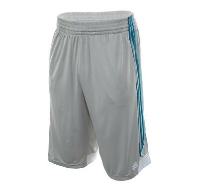 NWT Men's adidas 3G Grey w/ Teal Stripe Speed Shorts Size S MSRP $28
