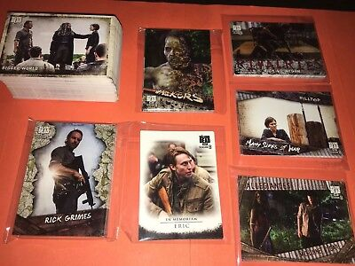 Walking Dead Season 8 Part 1 Complete Master Card Set - Base & 6 Insert Sets