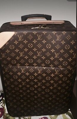 Authentic Louis Vuitton Pegase 60 Wheeled Luggage Suitcase Garment Bag Box Cover