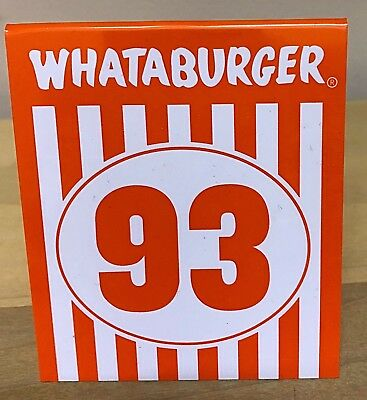 WHATABURGER TABLE TENT #38 - $5 99 | PicClick