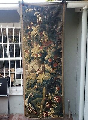 A Gorgeous 18th Century Tapestry with Bird & Parrot