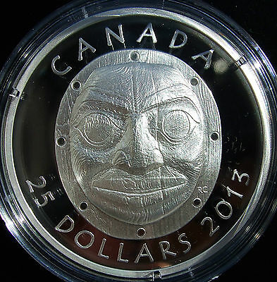 *NEW* Canada 2013 Fine Silver High Relief Coin Grandmother Moon Mask SOLD OUT!
