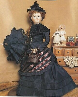 20 inch doll FRENCH FASHION COSTUME sewing pattern - skirt, apron, jacket
