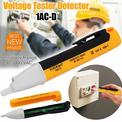 1AC Voltage Tester Pen 90~1000V Non-Contact Volt Alert Sensor Detector Stick
