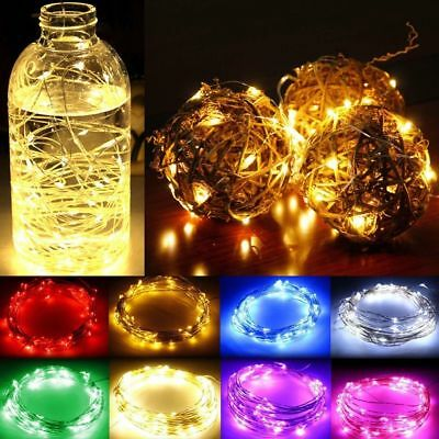 LED Battery Operated Micro Rice Wire Copper Mains Fairy Lights For Bottle Tree