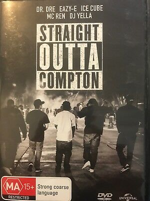 Straight Outta Compton - DVD - Dr Dre, Eazy-E, Ice Cube - Free Post!