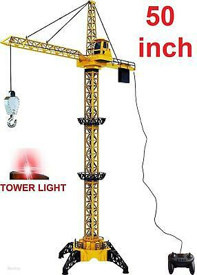 Wired Remote Control Crawler Crane Toy Construction Activity Playset Light 50""