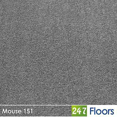 Mouse 151 Dublin Heathers Flecked Feltback Carpet Grey Twist Pile 4m & 5m Wide