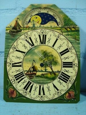 Dutch Clock Small Friesian Tail Or Schippertje Handpainted Replacement Dial 1