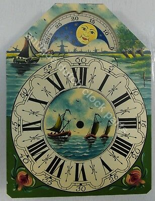Dutch Clock Small Friesian Tail Or Schippertje Handpainted Replacement Dial 3