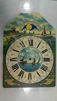 Handpainted Replacement Dial Large Dutch Friesian Tail Or Schippertje Wall Clock