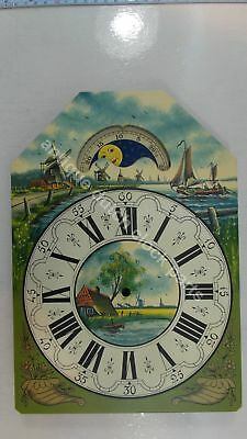 Handpainted Replacement Dial For Large Dutch Friesian Tail Wall Clock 4