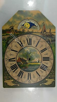 Handpainted Replacement Dial For Large Dutch Friesian Tail Wall Clock 5