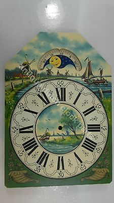 Handpainted Replacement Dial For Large Dutch Friesian Tail Wall Clock 6