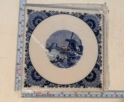 Original Large Blue Delft Dial Tile Replacement For Dutch Warmink Zaandam Clock
